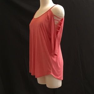 New cutout cold shoulder/sleeve tee